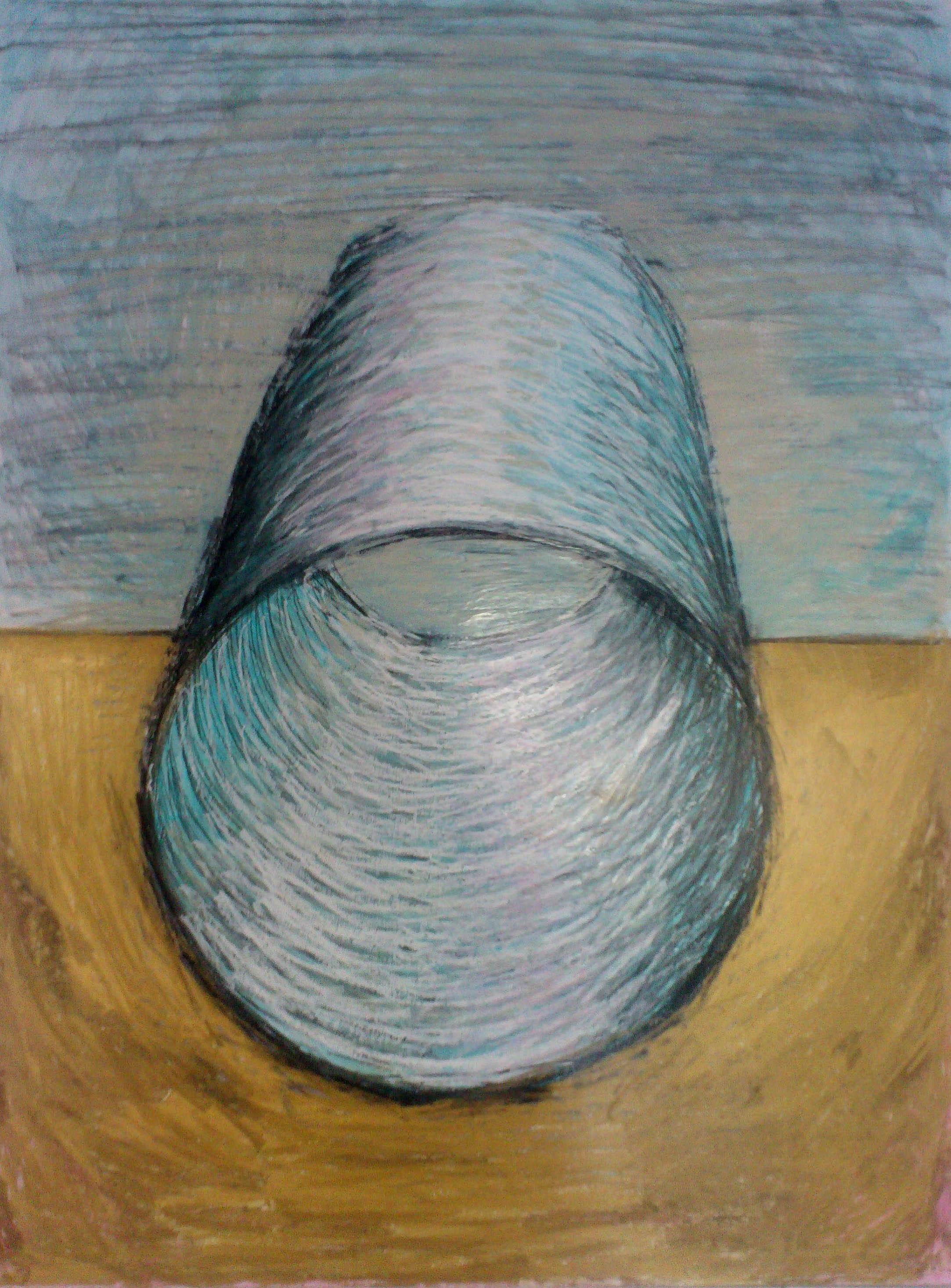 Röhre gold-blau