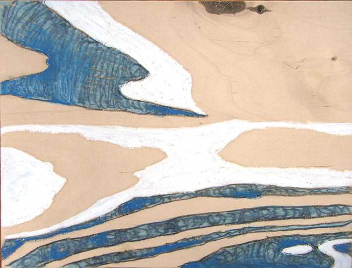 organisch blau weiss